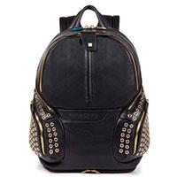 Рюкзак Piquadro Coleos черного цвета с чехлом от дождя, фото