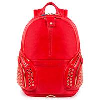 Рюкзак Piquadro Coleos красного цвета с чехлом от дождя, фото