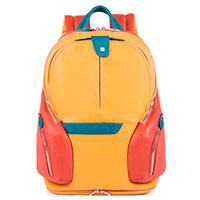 Рюкзак Piquadro Coleos желтого цвета, фото