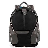 Черный рюкзак Piquadro Coleos с отделением для ноутбука и чехлом от дождя , фото