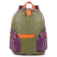 Рюкзак Piquadro Coleos зеленого цвета, фото