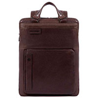 Коричневый рюкзак Piquadro Pulse с RFID защитой, фото