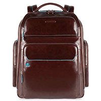 Рюкзак Piquadro Bl Square с отделением для ноутбука коричневого цвета, фото