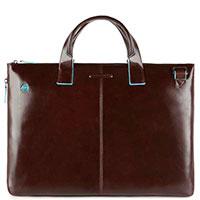 Коричневая сумка Piquadro Bl Square с отделением для ноутбука, фото