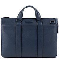 Синяя сумка Piquadro Modus с отделением для ноутбука, фото