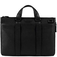 Черная сумка Piquadro Modus с отделением для ноутбука, фото