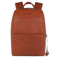 Коричневый рюкзак Piquadro Bk Square с секцией для ноутбука, фото