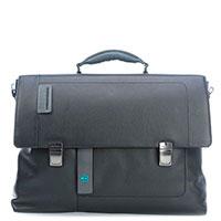 Черный портфель Piquadro Pulse с отделением для ноутбука, фото