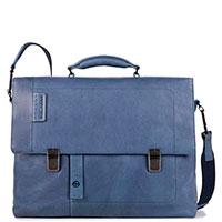 Мужской портфель Piquadro Pulse в синем цвете, фото