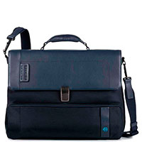 Мужской портфель Piquadro Pulse синего цвета, фото