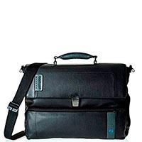 Портфель Piquadro Pulse с отделением для ноутбука черного цвета, фото