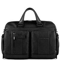 Черный портфель Piquadro Brief с отделением для ноутбука, фото