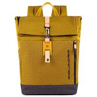 Рюкзак Piquadro Blade Rolltop желтого цвета, фото