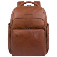 Коричневый рюкзак Piquadro Black Square из гладкой кожи, фото