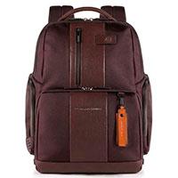 Коричневый рюкзак Piquadro Brief с отделением для ноутбука , фото