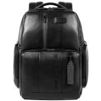 Мужской рюкзак Piquadro Urban из черной кожи, фото