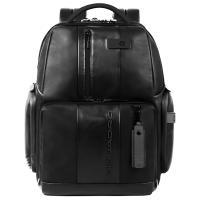 Рюкзак Piquadro Urban из черной кожи, фото