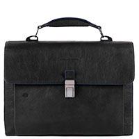 Портфель Piquadro B2S с отделением для ноутбука черного цвета, фото