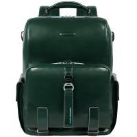 Рюкзак Piquadro Blue Square из кожи зеленого цвета, фото