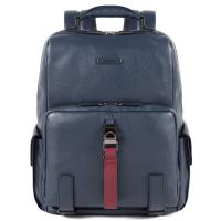 Синий рюкзак Piquadro Modus из гладкой кожи, фото