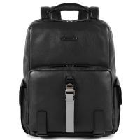 Мужской рюкзак Piquadro Modus из черной кожи, фото