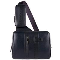 Наплечная сумка Piquadro Urban синего цвета, фото