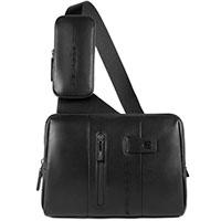 Наплечная сумка Piquadro Urban черного цвета, фото