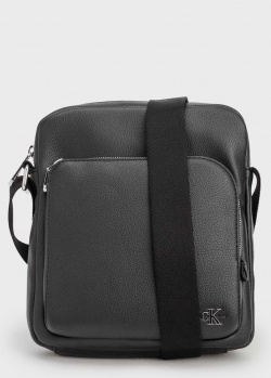 Сумка Calvin Klein черного цвета с логотипом, фото