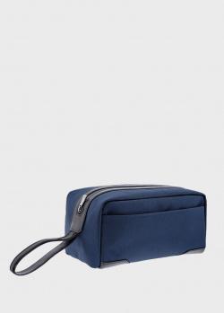 Борсетка S.T.Dupont Defi Millenium синего цвета, фото