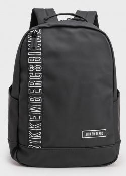 Черный рюкзак Bikkembergs с брендовой надписью, фото