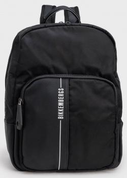 Черный рюкзак Bikkembergs с вертикальной надписью, фото