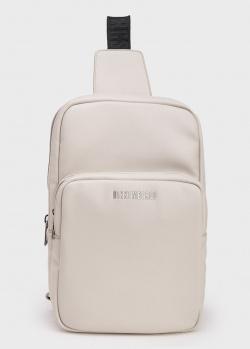 Мужская сумка-рюкзак Bikkembergs светло-серого цвета, фото