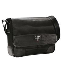 Черная сумка S.T.Dupont Defi из комбинации кожи и нейлона, фото