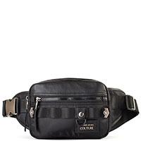 Поясная сумка Versace Jeans Couture в черном цвете, фото