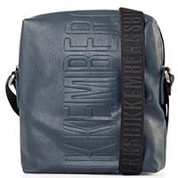 Темно-синяя сумка Bikkembergs с крупным логотипом, фото