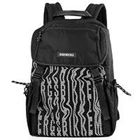 Мужской черный рюкзак Bikkembergs с белым лого, фото