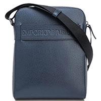 Сумка через плечо Emporio Armani синего цвета, фото