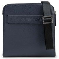 Мужская сумка Emporio Armani синего цвета, фото