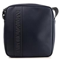 Синяя сумка Emporio Armani с логотипом, фото