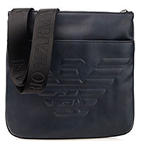 Синяя сумка Emporio Armani квадратной формы, фото