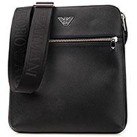 Черная сумка Emporio Armani с текстильным ремешком, фото