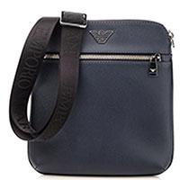 Прямоугольная сумка Emporio Armani синего цвета, фото