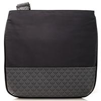 Черная сумка Emporio Armani с серой вставкой, фото