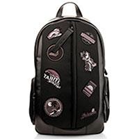 Черный рюкзак Emporio Armani с нашивками, фото