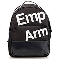 Текстильный рюкзак Emporio Armani с белым принтом, фото