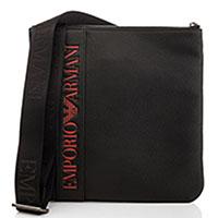 Плоская сумка Emporio Armani черного цвета, фото