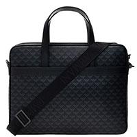 Черная сумка Emporio Armani с принтом в виде логотипа, фото