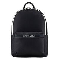 Рюкзак Emporio Armani с брендовой надписью на ручках, фото