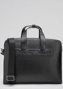 Черный портфель для ноутбука Emporio Armani, фото