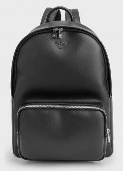 Мужской рюкзак Emporio Armani черного цвета с лого, фото